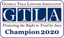 Georgia Trial Lawyers Association 2020 Champion Logo | Brockman Law Firm